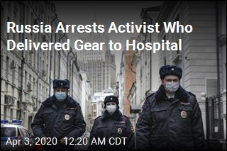 Russia Detains Activists Delivering Gear to Hospital