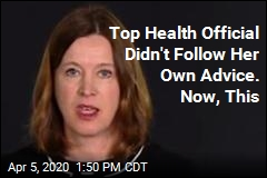 Top Health Official Busted for Not Following Her Own Advice