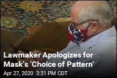 Lawmaker Apologizes for Mask's 'Choice of Pattern'