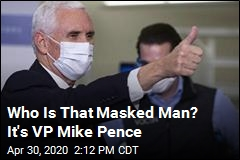 Who Is That Masked Man? It's VP Mike Pence