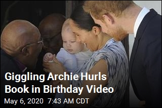 Giggling Archie Hurls Book in Birthday Video