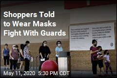 Shoppers Told to Wear Masks Fight With Guards