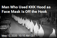 No Charges for Man Who Shopped in KKK Hood