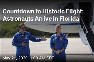 Astronauts Arrive for Historic NASA Launch