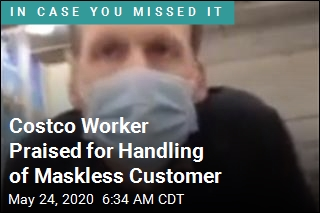 Costco Worker Praised for Handling of Maskless Customer