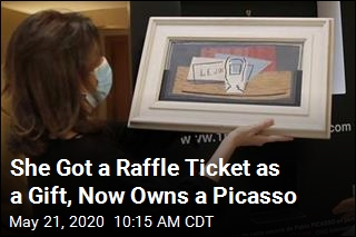 She Got a Raffle Ticket as a Gift, Now Owns a Picasso