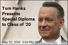 Tom Hanks, with Einstein, Pays Tribute to Graduates