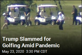 Media Slams Trump for Golfing 'While Americans Die'