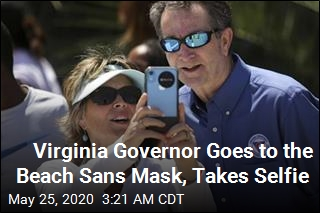Virginia Governor Goes to the Beach Sans Mask, Takes Selfie