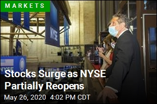 Stocks Surge as NYSE Partially Reopens