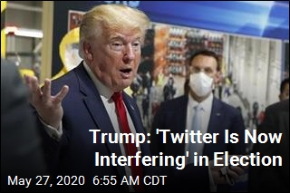 Trump: 'Twitter Is Now Interfering' in Election