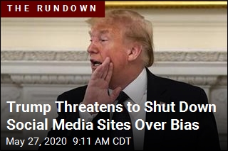 Trump Threatens to Shut Down Social Media Sites Over Bias