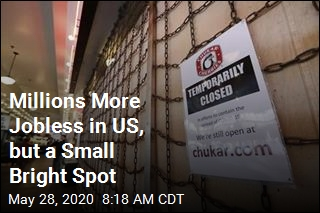 Millions More Jobless in US, but a Small Bright Spot