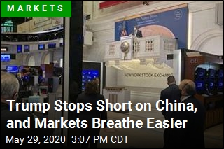 Trump Stops Short on China, and Markets Breathe Easier