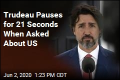 Trudeau Pauses for 21 Seconds When Asked About US