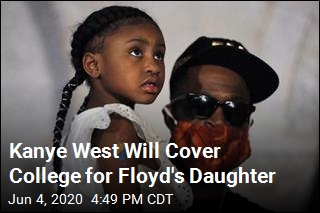 Kanye West Will Cover College for Floyd's Daughter