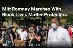 Mitt Romney Marches: 'Black Lives Matter'
