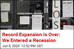 Record Expansion Is Over: We Entered a Recession