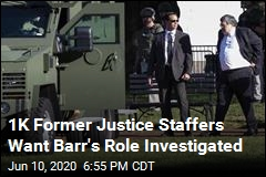 Former Justice Staffers Call for an Investigation of Barr