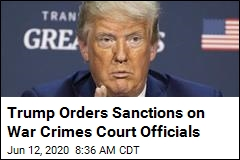 Trump Orders Sanctions on War Crimes Court Officials
