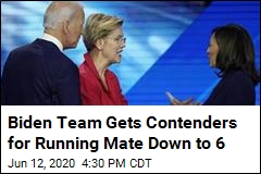 Biden Team Gets Contenders for Running Mate Down to 6