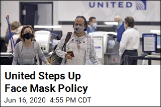 United Will Ban Flyers Who Refuse to Wear Masks