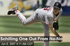 Schilling One Out From No-No