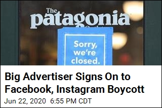 Big Advertiser Signs On to Facebook, Instagram Boycott