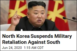 North Korea Suspends Military Retaliation Against South