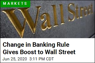 Change in Banking Rule Gives Boost to Wall Street