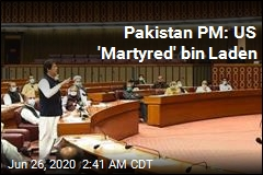Pakistan PM Says US 'Martyred' bin Laden