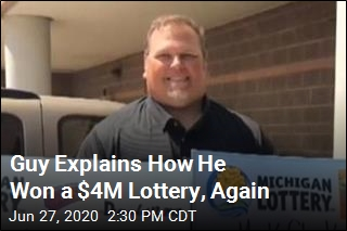 Same Guy Wins $4M Lottery, Again