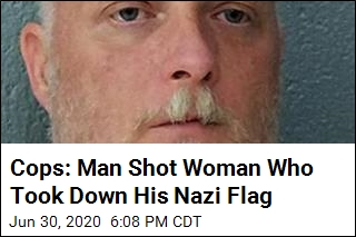 Woman Shot Multiple Times After Stealing Nazi Flag