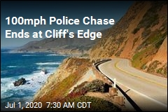 100mph Police Chase Ends at Cliff's Edge