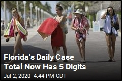 Florida's Daily Case Total Now Has 5 Digits