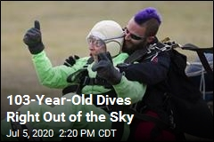 103-Year-Old Dives Right Out of the Sky
