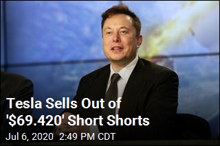 Musk Mocks Short Sellers With $69 Tesla Short Shorts