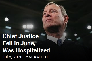 Chief Justice Fell in June, Was Hospitalized