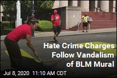 Hate Crime Charges Follow Vandalism of BLM Mural