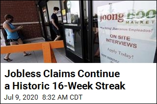 Jobless Claims Continue a Historic 16-Week Streak