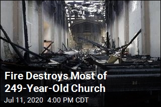 Fire Destroys Most of 249-Year-Old Church