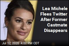 Lea Michele Flees Twitter After Former Castmate Disappears