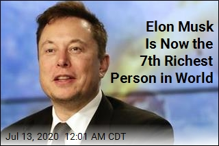 Elon Musk Now 7th Richest Person in World