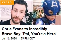 Chris Evans Reaches Out to Incredibly Brave Boy