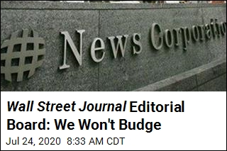Wall Street Journal Editorial Board: We Won't Budge