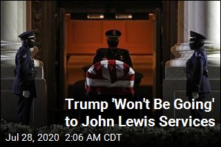 Trump Won't Pay Respects to John Lewis