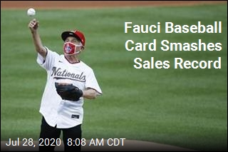 Fauci Baseball Card Smashes Sales Record