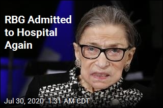 RBG Admitted to Hospital Again