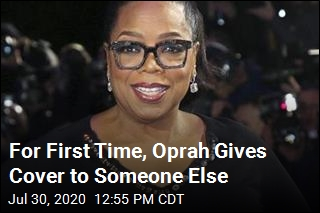 For First Time, Oprah Gives Cover to Someone Else