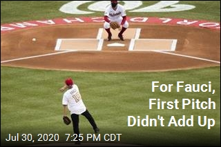 For Fauci, First Pitch Didn't Add Up